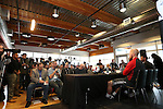 08 December 2016: Media packed the room during the press conference. Major League Soccer held a press conference with Toronto FC and Seattle Sounders FC at the Kia Training Ground in Toronto, Ontario in Canada two days before MLS Cup 2016.
