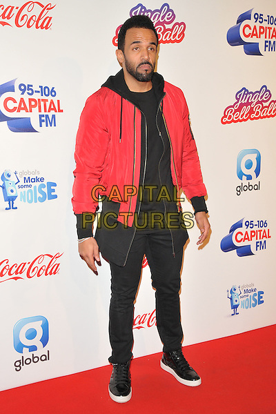 Craig David at the Capital FM Jingle Bell Ball, The London O2 Arena, Peninsula Square, London, England, UK, on Saturday 03 December 2016. <br /> CAP/CAN<br /> &copy;CAN/Capital Pictures