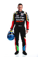 Feb 8, 2017; Pomona, CA, USA; NHRA top fuel driver Clay Millican poses for a portrait during media day at Auto Club Raceway at Pomona. Mandatory Credit: Mark J. Rebilas-USA TODAY Sports
