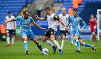 Bolton Wanderers' Dennis Politic challenges Coventry City's Liam Kelly as team mate Kyle McFadzean (right) looks on<br /> <br /> Photographer Andrew Kearns/CameraSport<br /> <br /> The EFL Sky Bet Championship - Bolton Wanderers v Coventry City - Saturday 10th August 2019 - University of Bolton Stadium - Bolton<br /> <br /> World Copyright © 2019 CameraSport. All rights reserved. 43 Linden Ave. Countesthorpe. Leicester. England. LE8 5PG - Tel: +44 (0) 116 277 4147 - admin@camerasport.com - www.camerasport.com