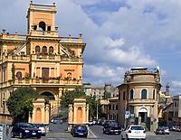 Italien, Latium, Bracciano: Ortszentrum | Italy, Lazio, Bracciano: town centre