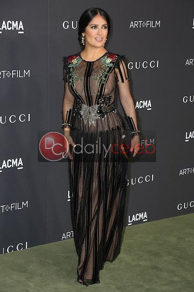 Salma Hayek<br /> at the 2016 LACMA Art +  Film Gala, LACMA, Los Angeles, CA 10-29-16<br /> David Edwards/DailyCeleb.com 818-249-4998