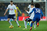 Erik Lamela of Tottenham during the Premier League match between Leicester City and Tottenham Hotspur at the King Power Stadium, Leicester, England on 28 November 2017. Photo by James Williamson / PRiME Media Images.