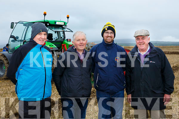 At the Abbeydorney Ploughing Match on Sunday were Mondie Hayes, Patrick Slattery, James Slattery and Tom O'Mahony