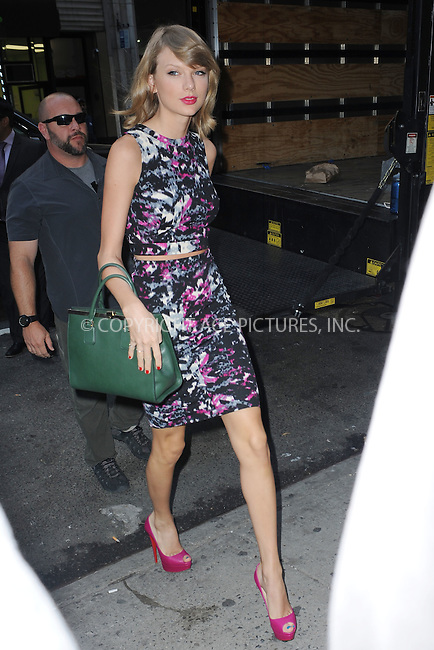 WWW.ACEPIXS.COM<br /> September 15, 2014 New York City<br /> <br /> Taylor Swift out and about in New York City on September 15, 2014.<br /> <br /> By Line: Kristin Callahan/ACE Pictures<br /> ACE Pictures, Inc.<br /> tel: 646 769 0430<br /> Email: info@acepixs.com<br /> www.acepixs.com