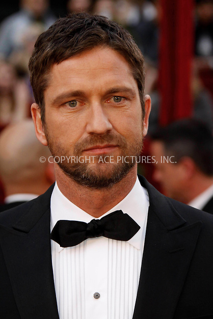 WWW.ACEPIXS.COM . . . . .  ....March 7 2010, Hollywood, CA....Actor Gerald Butler at the 82nd Annual Academy Awards held at Kodak Theatre on March 7, 2010 in Hollywood, California.....Please byline: Z10-ACE PICTURES... . . . .  ....Ace Pictures, Inc:  ..Tel: (212) 243-8787..e-mail: info@acepixs.com..web: http://www.acepixs.com