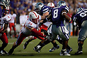 October 07, 2010: Nebraska defensive tackle Jared Crick (94) breaks through getting a hold of Kansas State running back Daniel Thomas (8) at the Bill Snyder Family Stadium in Manhattan, Kansas.  Nebraska defeated Kansas State 48 to 13.
