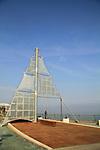 Israel, Sea of Galilee, a sculpture of Ilana Goor at Tiberias promenade