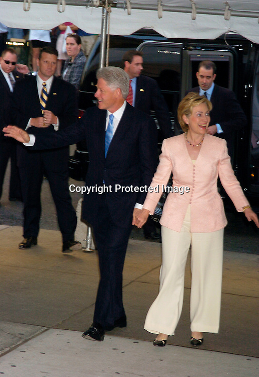 """Bill and Hillary Clinton ..at the Book party for Bill Clinton's autobiography titled """" My Life """" on June 21, 2004 at the Metorpolitan Museum of Art in New York City. ..Photo by Robin Platzer, Twin Images"""