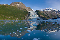 Cascade glacier, Chugach mountains, Prince William Sound, Alaska.