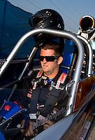 Aug. 30, 2013; Clermont, IN, USA: NHRA super comp driver Brad Plourd during qualifying for the US Nationals at Lucas Oil Raceway. Mandatory Credit: Mark J. Rebilas-