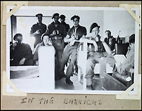 BNPS.co.uk (01202 558833)<br /> Pic: Bellmans/BNPS<br /> <br /> 2 SAS In the barracks.<br /> <br /> A fascinating trove of SAS records including some of the first photographs of the elite force which have never been seen before has been unearthed. <br /> <br /> The extensive assortment, also including medals and documents, was accumulated by war hero Lance Corporal William James Cooke at the end of World War Two. <br /> <br /> Remarkable images of Cooke's previously unrevealed wartime exploits show him serving behind enemy lines in occupied France and assisting with the liberation of Norway. <br /> <br /> His accomplishments have come to light after a family member presented the bequeathed collection to Hampshire-based auctioneer Bellmans, which will sell it tomorrow.