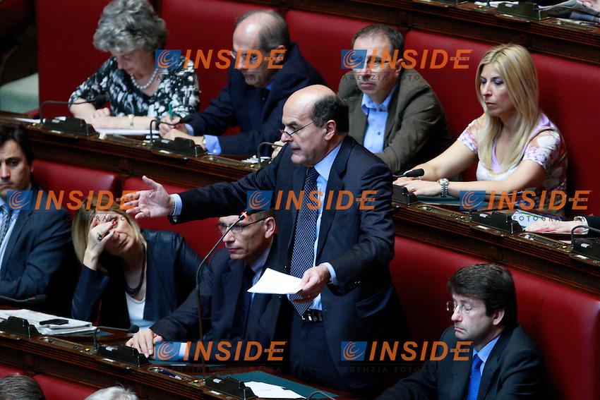 Pierluigi Bersani.Roma 13/06/2012 Camera. Informativa urgente del Premier sul Consiglio Europeo del 28 Giugno..Photo Samantha Zucchi Insidefoto