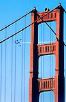 Blue Angels As Seen In Flight Through the Golden Gate Bridge