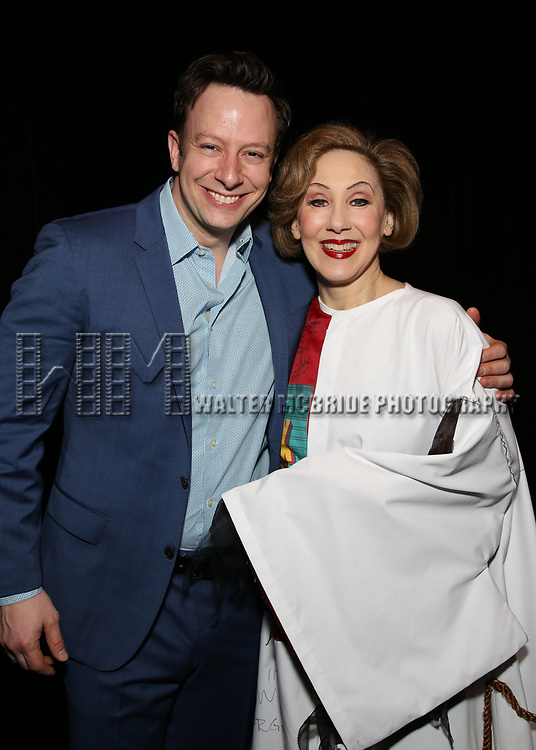 Tally Sessions and Joanna Glushak during the Actors' Equity Gypsy Robe honoring Joanna Glushak for 'War Paint' at the Nederlander Theatre on April 6, 2017 in New York City