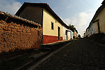 The cobble-stone streets of the peaceful town of Suchitoto, El Salvador..