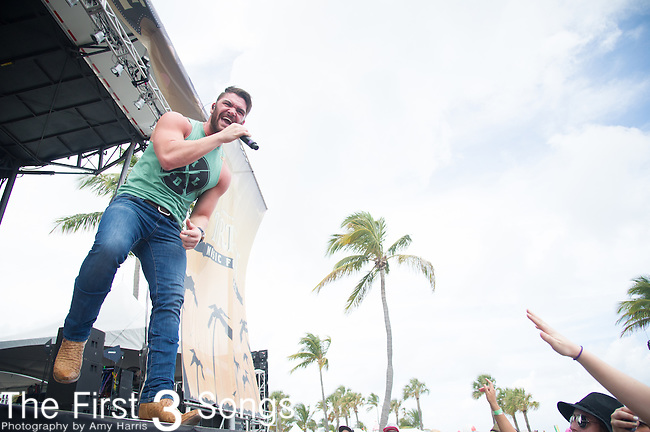 Dylan Scott performs onstage during The Tortuga Music Festival in Fort Lauderdale, Florida.