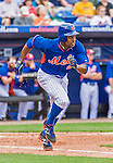 8 March 2015: New York Mets outfielder Curtis Granderson in Spring Training action against the Boston Red Sox at Tradition Field in Port St. Lucie, Florida. The Mets fell to the Red Sox 6-3 in Grapefruit League play. Mandatory Credit: Ed Wolfstein Photo *** RAW (NEF) Image File Available ***