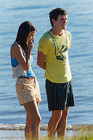 Rhiannon Fish on the set of Home And Away
