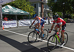 The finish of the Masters 45+ 4/5 division of the Tour De Nez Bike Race in downtown Reno on Saturday, June 11, 2016.