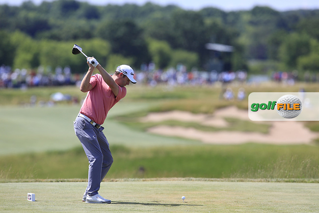Bradley Dredge (WAL) tees off the 7th tee during Friday's Round 2 of the 117th U.S. Open Championship 2017 held at Erin Hills, Erin, Wisconsin, USA. 16th June 2017.<br /> Picture: Eoin Clarke | Golffile<br /> <br /> <br /> All photos usage must carry mandatory copyright credit (&copy; Golffile | Eoin Clarke)