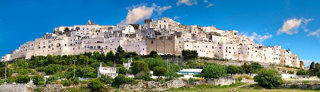 The white city of Ostuni, Puglia, South Italy.
