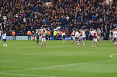 22/04/2016 Sky Bet Championship Preston North End v Burnley<br /> Burnley players celebrate victory