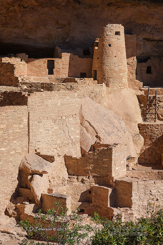 Cliff Palace Detail, Mesa Verde National Park, Colorado