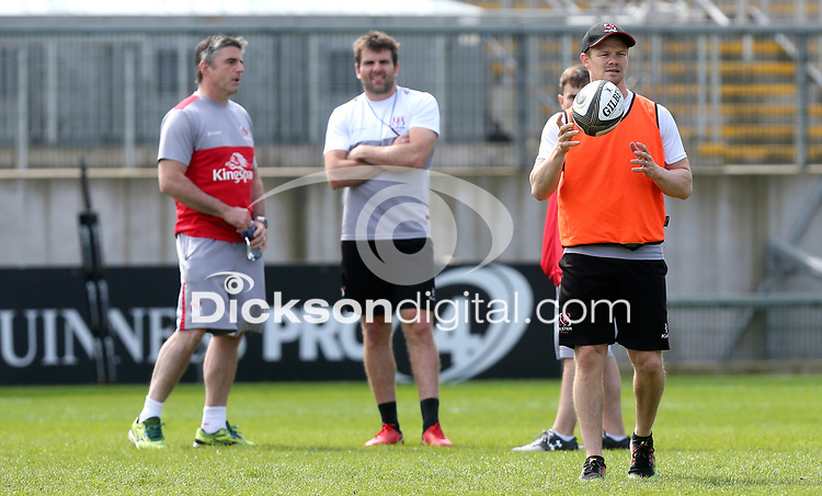 Saturday 19th May 20018 | Ulster Captain's Run<br /> <br /> Niall Malone, Jared Payne and Dwayne Peel during the final Captain's Run of the season at Kingspan Stadium, Ravenhill Park, Belfast, Northern Ireland. Photo by John Dickson / DICKSONDIGITAL