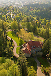 Aerial View of Pittock Mansion in Portland, Oregon