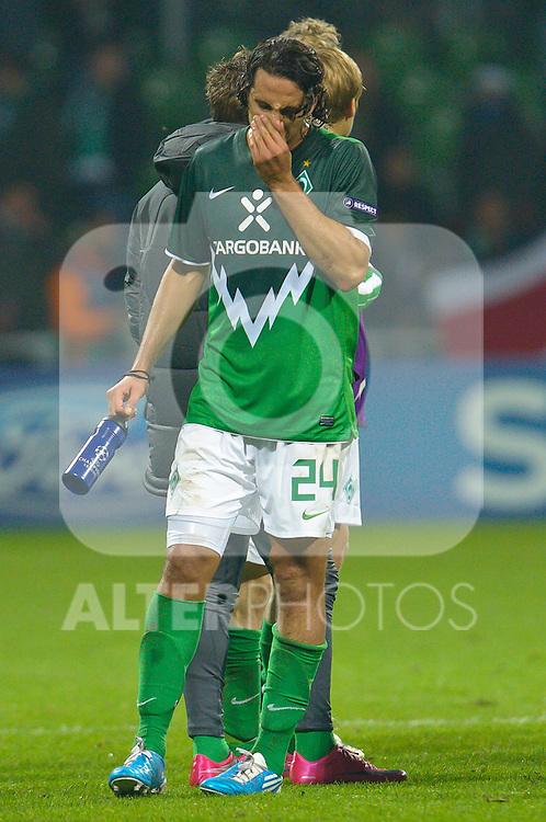 02.11.2010, Weser Stadion, Bremen, GER, UEFA CL Gruppe A, Werder Bremen( GER) vs FC Twente Enschede (NED), im Bild  Claudio Pizarro ( Werder #24 ) Foto © nph / Kokenge
