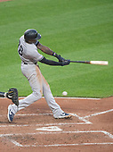 New York Yankees left fielder Cameron Maybin (38) strikes out swinging in the third inning against the Baltimore Orioles at Oriole Park at Camden Yards in Baltimore, MD on Tuesday, May 21, 2019.<br /> Credit: Ron Sachs / CNP<br /> (RESTRICTION: NO New York or New Jersey Newspapers or newspapers within a 75 mile radius of New York City)