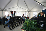 13 December 2007: The Wake Forest University Demon Deacons held a press conference at SAS Stadium in Cary, North Carolina one day before playing in a NCAA Division I Mens College Cup semifinal game.