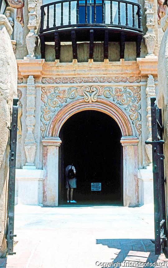 AZ: Tucson--San Xavier, Entrance.  Photo '96.