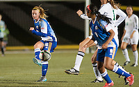 VANCOUVER, BC:OCTOBER 3, 2015 -- UBC Thunderbirds and the Saskatchewan Huskies in Canada West women's soccer action at Thunderbird Stadium, October 3, 2015.<br />