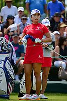 Jin Young Ko (KOR) looks over her tee shot on 1 during Sunday's final round of the 72nd U.S. Women's Open Championship, at Trump National Golf Club, Bedminster, New Jersey. 7/16/2017.<br /> Picture: Golffile | Ken Murray<br /> <br /> <br /> All photo usage must carry mandatory copyright credit (&copy; Golffile | Ken Murray)