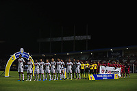 MACEIÓ, AL, 24.10.2019 - CRB-BOTAFOGO - Times perfilados durante partida CRB contra o Botafogo-SP em jogo válido pela 31ª rodada do Campeonato Brasileiro Serie B 2019, no Estádio Rei Pelé, em Maceió, nesta quinta-feira, 24. (Foto: Alisson Frazão/Brazil Photo Press/Folhapress)