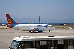 Viking charter plane at Rhodes airport, Greece
