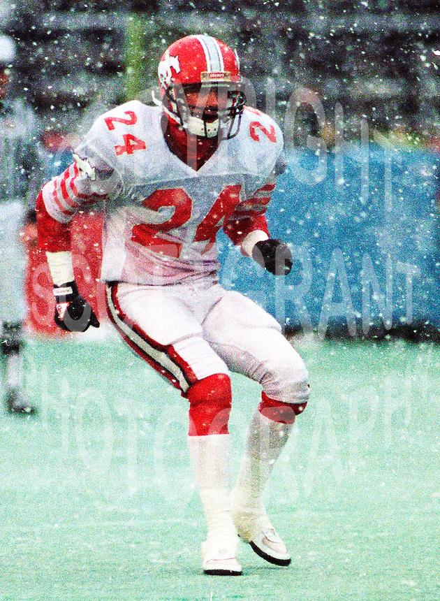 Greg Peterson Calgary Stampeders 1989. Photo John Bradley