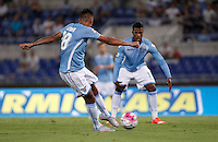 Calcio, Serie A: Lazio vs Bologna. Roma, stadio Olimpico, 22 agosto 2015.<br /> Lazio&rsquo;s Ricardo Kishna kicks to score during the Italian Serie A football match between Lazio and Bologna at Rome's Olympic stadium, 22 August 2015.<br /> UPDATE IMAGES PRESS/Isabella Bonotto