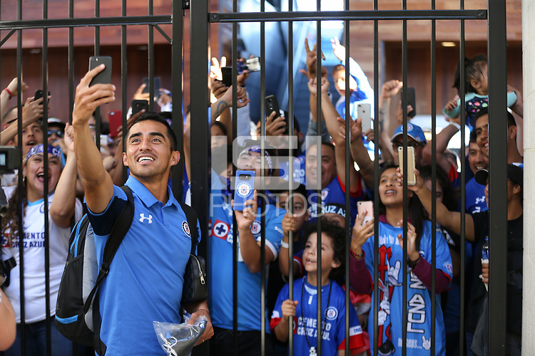 San Jose, CA - Saturday October 13, 2018: Cruz Azul fans prior to a friendly match between the San Jose Earthquakes and Cruz Azul at Avaya Stadium.