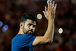 Diego Costa of Atletico de Madrid celebrates the team winning the 2018 UEFA Super Cup after the La Liga 2018-19 match between Atletico de Madrid and Rayo Vallecano at Wanda Metropolitano on August 25 2018 in Madrid, Spain. Photo by Diego Souto / Power Sport Images