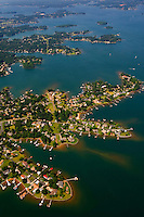 Aerial photo of Lake Norman in Mecklenburg County, NC, taken May 2008.