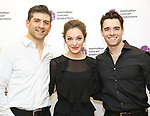 """Laura Osnes, Tony Yazbeck and Corey Cott attend the Meet the Cast of The MCP Production of """"The Scarlet Pimpernel"""" at Pearl Rehearsal studio Theatre on February 14, 2019 in New York City."""
