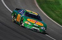 Oct. 10, 2009; Fontana, CA, USA; NASCAR Nationwide Series driver Morgan Shepherd during the Copart 300 at Auto Club Speedway. Mandatory Credit: Mark J. Rebilas-