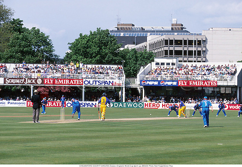 CHELMSFORD COUNTY GROUND, Essex v England, World Cup warm up, 990509. Photo: Neil Tingle/Action Plus....1999.general view.venue.cricket.grounds.venues