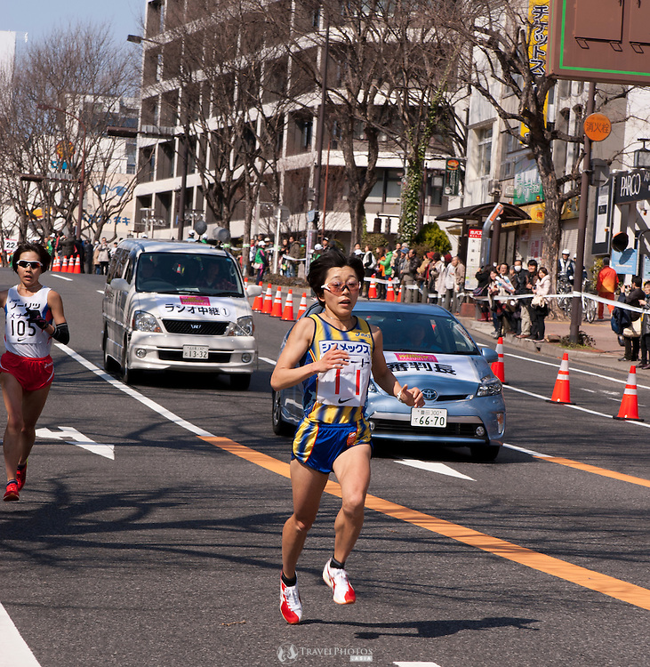 Japan's Olympic gold medalist Mizuki Noguchi finishes sixth in the Nagoya Women's Marathon.