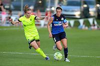 Kansas City, MO - Saturday June 25, 2016: Kim Little, Alex Arlitt during a regular season National Women's Soccer League (NWSL) match at Swope Soccer Village.