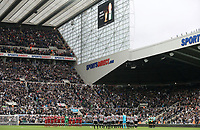 Liverpool and Newcastle United players line up to pay their respects to former Newcastle United chairman Freddy Shepherd ahead of kick-off<br /> <br /> Photographer Rich Linley/CameraSport<br /> <br /> The Premier League -  Newcastle United v Liverpool - Sunday 1st October 2017 - St James' Park - Newcastle<br /> <br /> World Copyright &copy; 2017 CameraSport. All rights reserved. 43 Linden Ave. Countesthorpe. Leicester. England. LE8 5PG - Tel: +44 (0) 116 277 4147 - admin@camerasport.com - www.camerasport.com