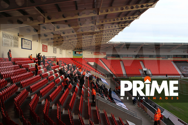 General view of Keepmoat stadium, home of Doncaster Rovers FC ahead of Rovers and Oldham Athletic at the Keepmoat Stadium, Doncaster, England on 16 December 2017. Photo by Juel Miah / PRiME Media Images.